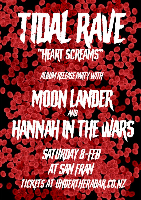 Tidal Rave Album Release, w/Moonlander and Hannah In The Wars