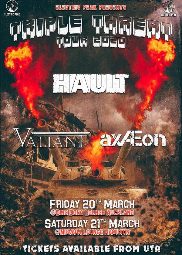 Triple Threat Tour (Hault + Valiant + axÆon) - Cancelled