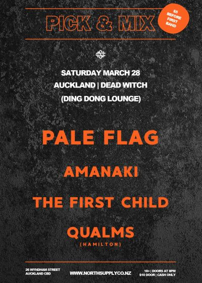 Pale Flag, Amanaki, The First Child, Qualms - Cancelled