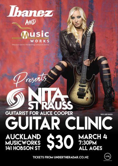 Nita Strauss Auckland Guitar Clinic