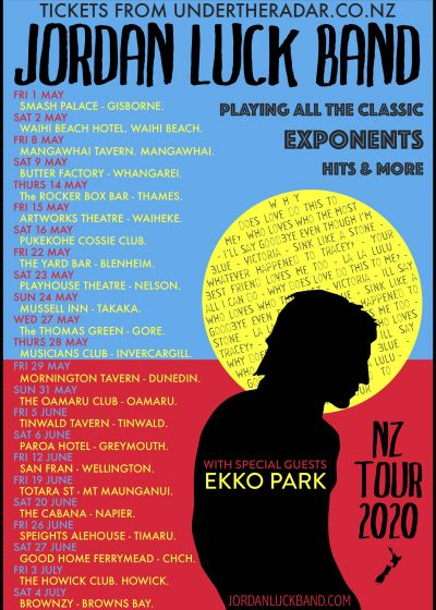 Jordan Luck Band - Who Loves NZ The Most? 2020 Tour - Postponed