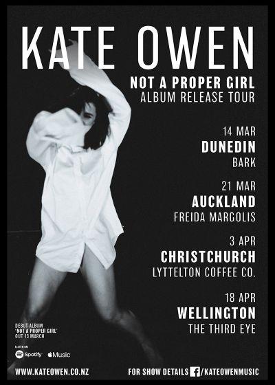 Kate Owen Album Release Tour - Cancelled