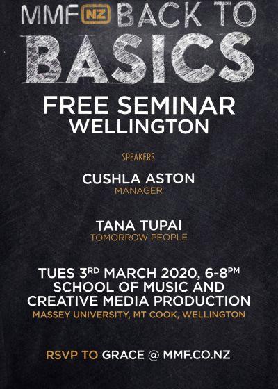 MMF: The Back To Basics Seminar - Cushla Aston, Louis Baker, Julia Deans & More
