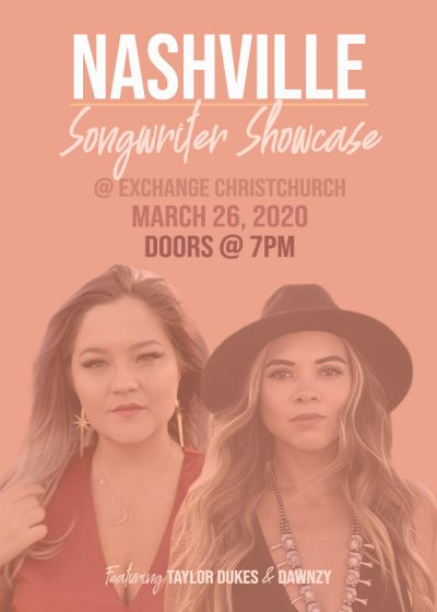 Nashville Songwriter Showcase - Cancelled