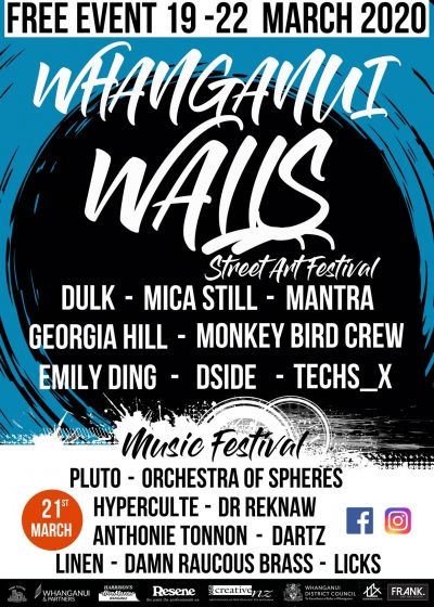 Whanganui Walls Of Sound - Postponed