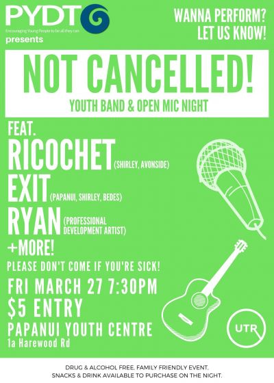Pydt Presents: Ricochet, Exit, Ryan + More - Cancelled