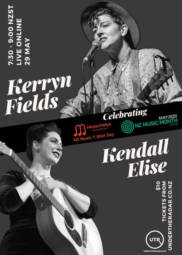 NZ Music T-Shirt Day Live Stream / Kerryn Fields & Kendall Elise