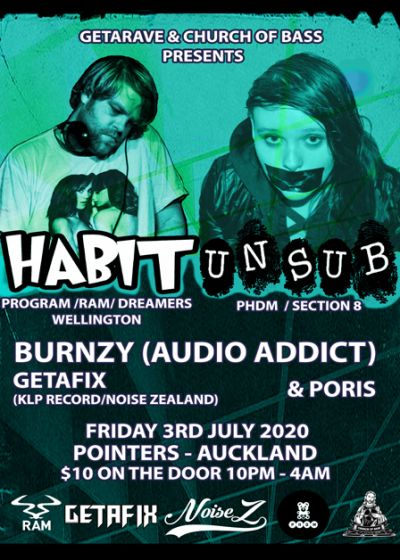 Church Of Bass & Getarave Presents: Habit & Unsub