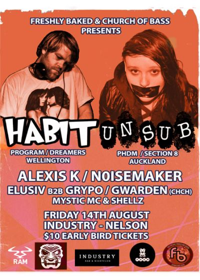 Freshly Baked and Church Of Bass presents Habit and Unsub - Postponed