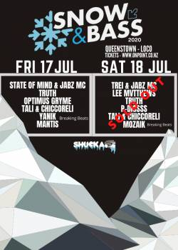 Snow and Bass 2020 Queenstown