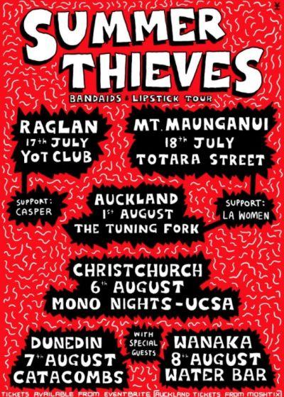 Summer Thieves Bandaids and Lipstick Tour  w/ La Women