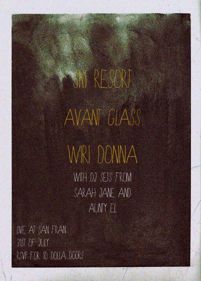Ski Resort / Avant Glass / Wiri Donna | Aunty El and Sarah Jane Dj