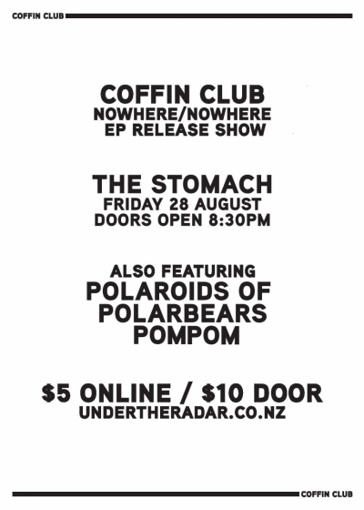 Coffin Club - Nowhere/Nowhere EP Release Show - Cancelled