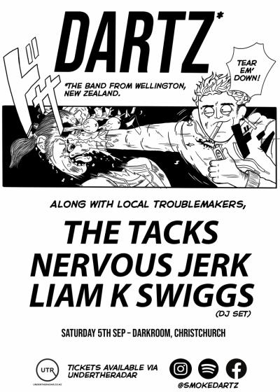 Dartz With The Tacks, Nervous Jerk And Mr. Liam K. Swiggs