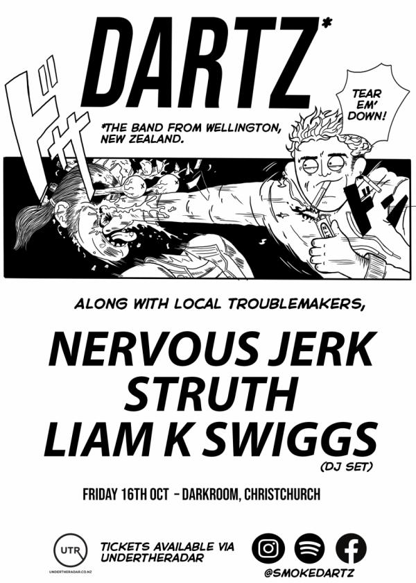DARTZ With Nervous Jerk, Struth And Mr. Liam K. Swiggs