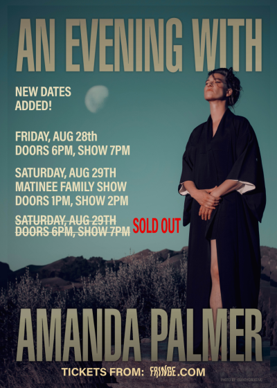 An Evening With Amanda Palmer (Rescheduled)