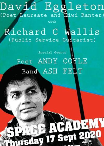 NZ Poet Laureate: David Eggleton, Richard C Wallis, Andy Coyle, Ash Felt !