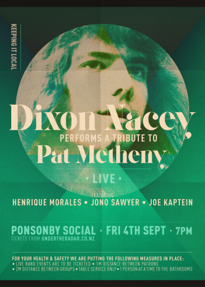 Dixon Nacey Performs A Tribute To Pat Metheny - Cancelled