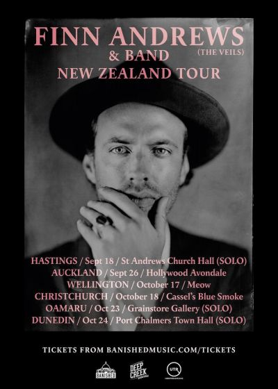 Finn Andrews Solo (the Veils) New Zealand Tour
