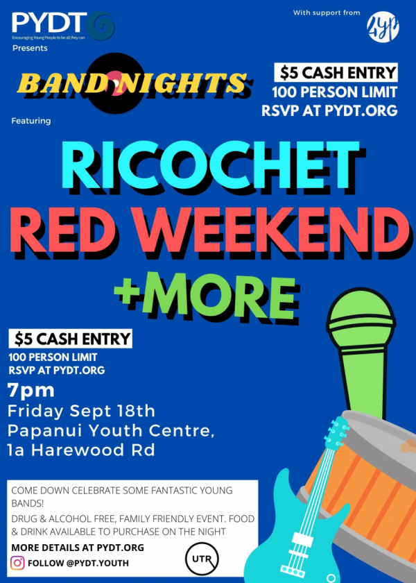 PYDT Presents: Ricochet, Red Weekend +more