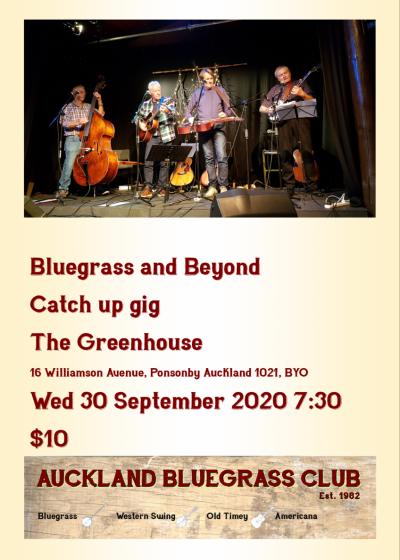 Bluegrass And Beyond Catch Up Gig
