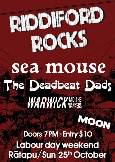 Riddiford Rocks: Sea Mouse, Deadbeat Dads and more