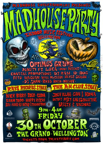 Madhouse Party (Indoor Music Festival) | Wellington