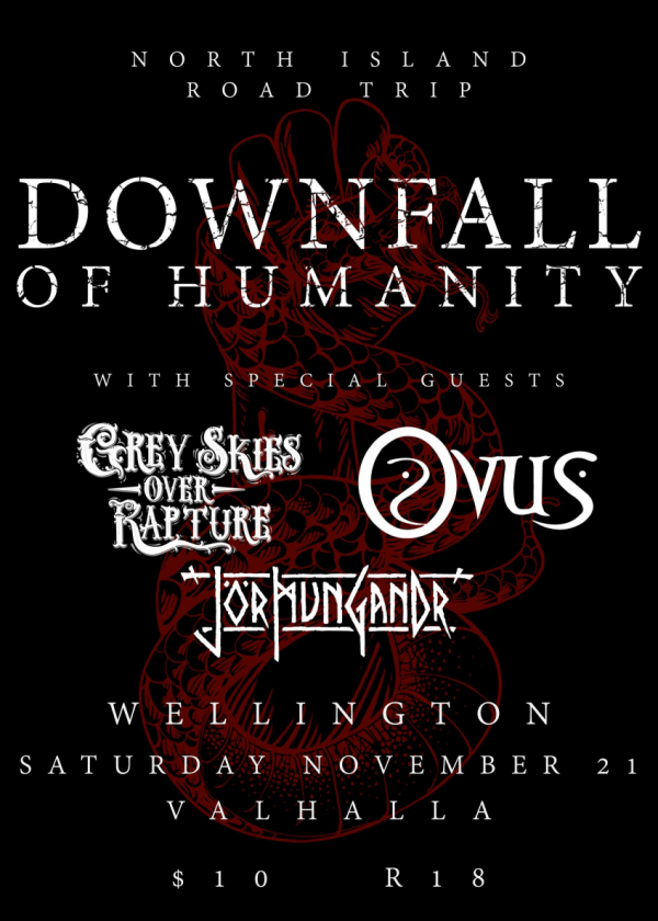 Downfall Of Humanity's North Island Tour
