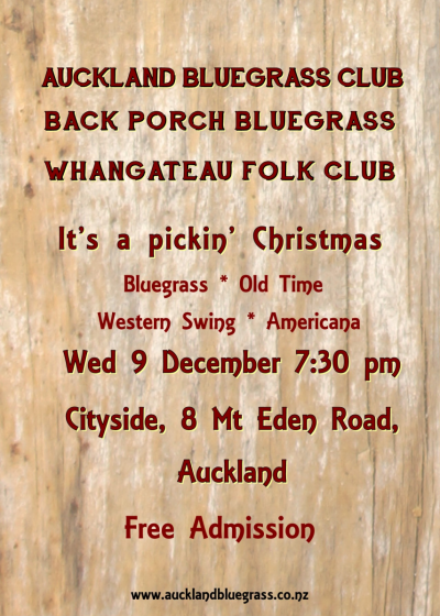 It's a pickin' Christmas at the Bluegrass Club