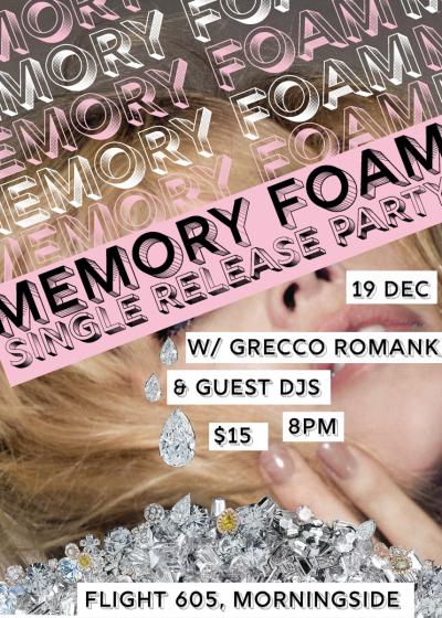 Memory Foam Single Release Party