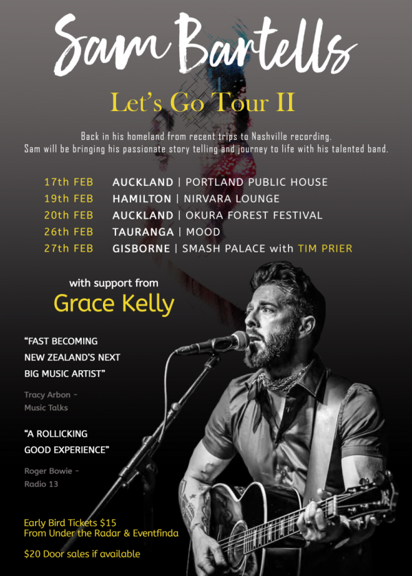 Sam Bartells - Let's Go Tour 2