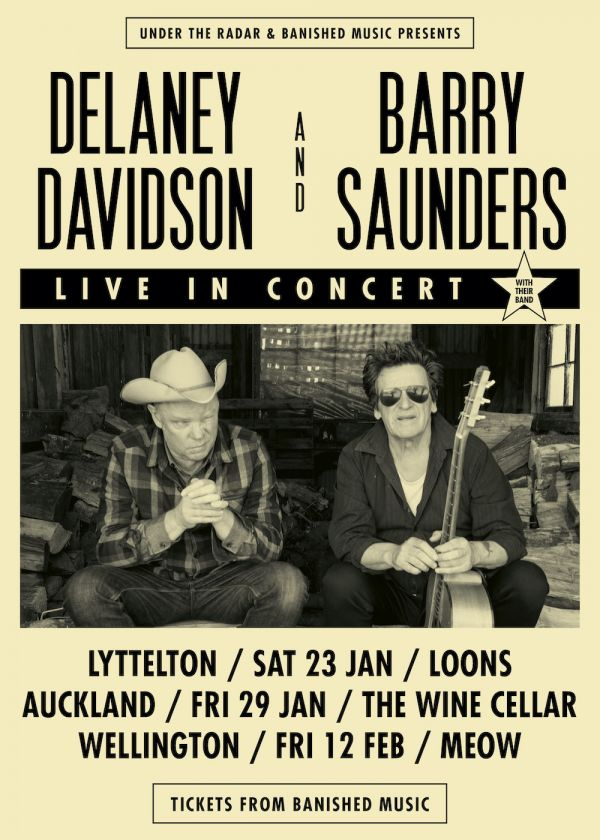 Delaney Davidson And Barry Saunders - Live In Concert, With Their Band