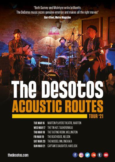 The DeSotos Acoustic Routes Tour '21