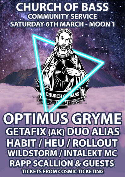 Church Of Bass 9th Birthday: Community Service w/ Optimus Gryme