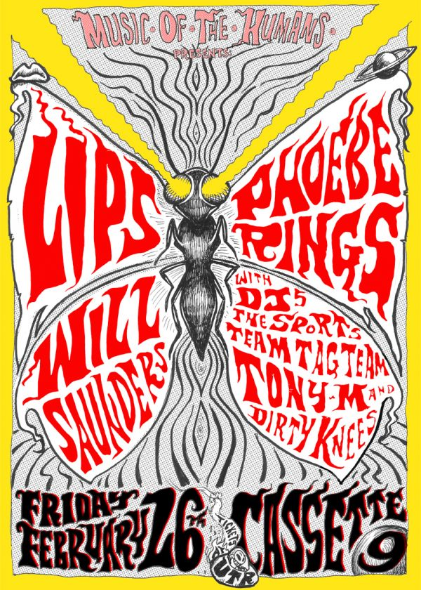 Music. Of. The. Humans. Presents Lips, Phoebe Rings and Will Saunders