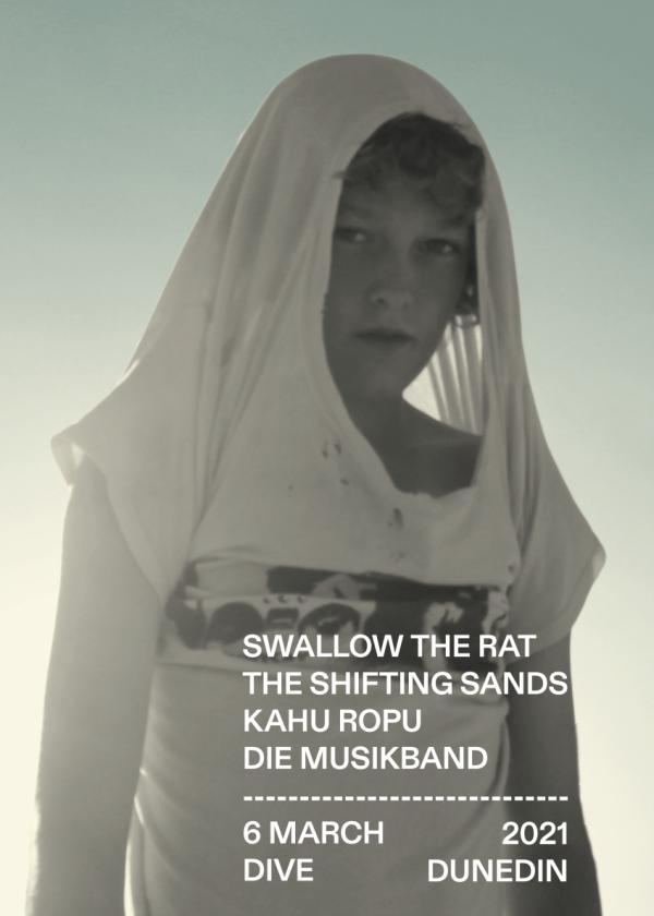 Swallow the Rat + The Shifting Sands +  Kāhū Rōpū + Die Musikband