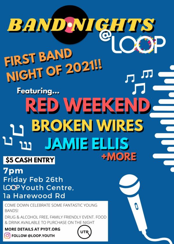 Band Nights @ Loop: Red Weekend, Broken Wires, Jamie Ellis + More!