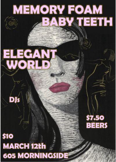 605 Fest w/Memory Foam, Baby Teeth And Elegant World