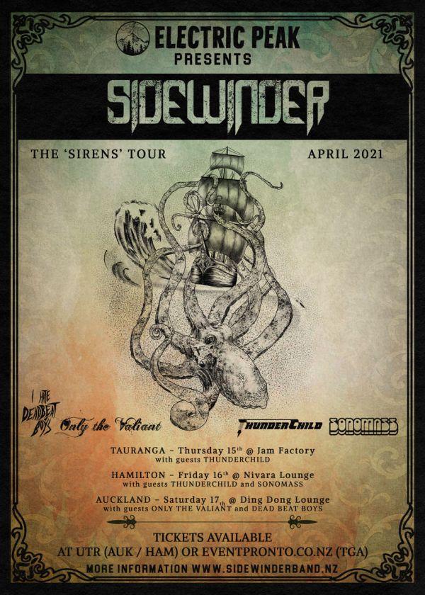 Sidewinder - The Sirens Tour 2021