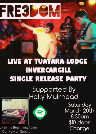 Fre3dom Single Release Party With Guest Holly Muirhead