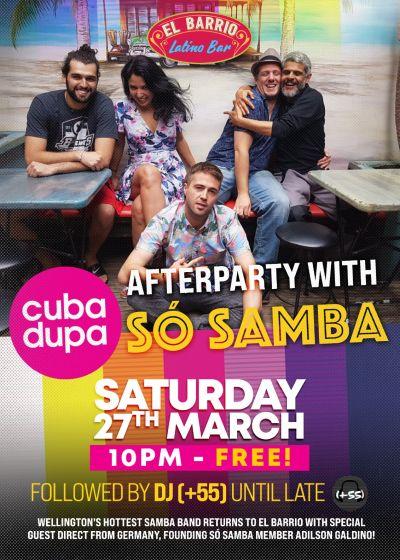 So Samba's Cubadupa Afterparty With Xtra Special Guest Adilson Galdino