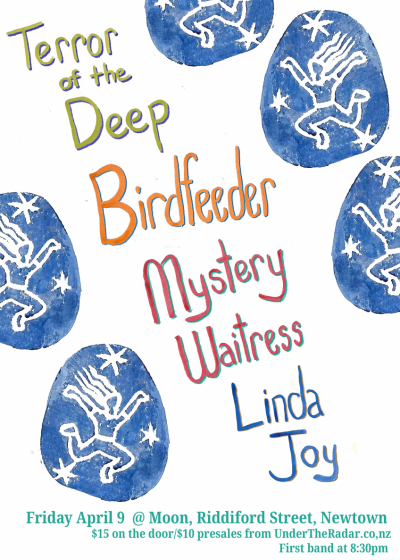 Birdfeeder / Terror Of The Deep / Mystery Waitress / Linda Joy