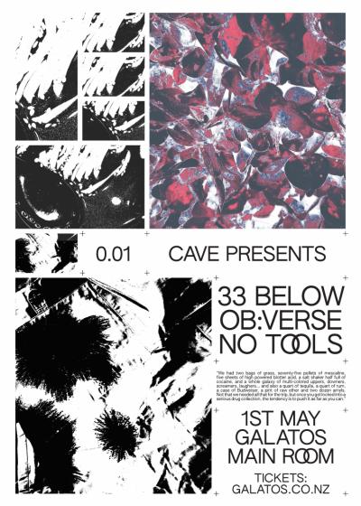 Cave Presents: 33 Below, Ob:verse And No Tools