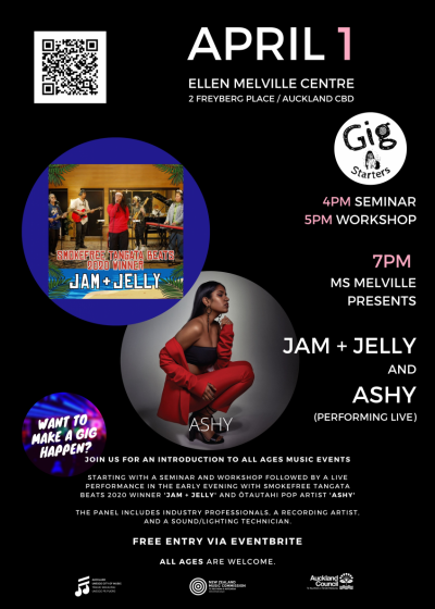 Gig Starters - Auckland Feat. 'Jam + Jelly' and ASHY
