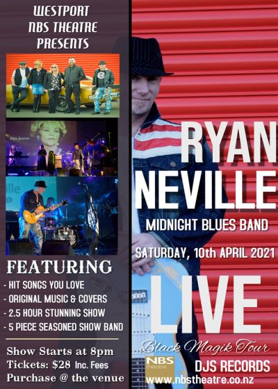 Ryan Neville Rock N Blues - Black Magik Tour