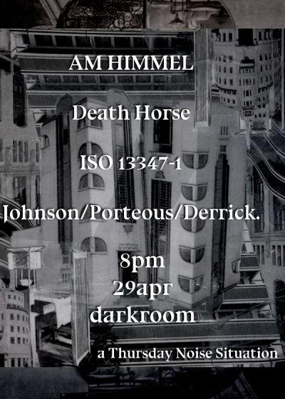 Am Himmel, Death Horse, ISO 13347-1, Johnson/Porteous/Derrick