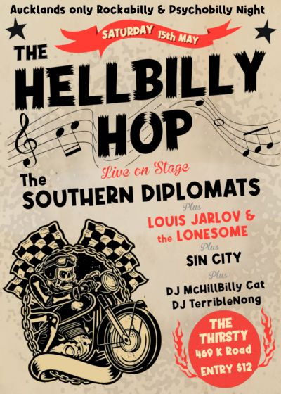 The Hellbilly Hop Presents The Southern Diplomats and Guests.