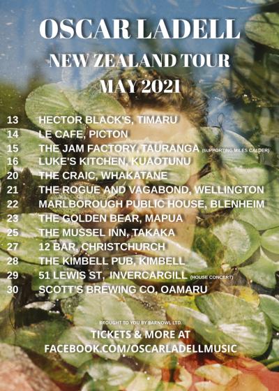 Oscar Ladell NZ Tour