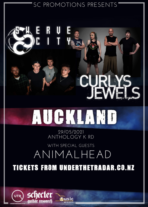 Swerve City / Curlys Jewels North Island Tour With Special Guests