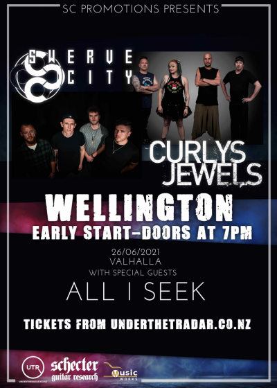 Swerve City / Curlys Jewels North Island Tour w/ Special Guests
